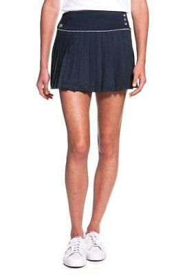 Brand New Ladies Lacoste Tennis Skirt J1914 Pleat Front Navy Blue Size Uk 6