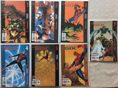 Ultimate Six complete series #1 - #7 (Marvel 2003) FN to NM condition.