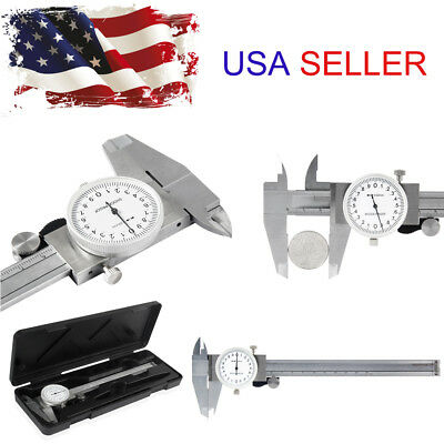 150mm Stainless Steel Metric Dial Caliper 0.001 inch Measurement Tool USA Stock