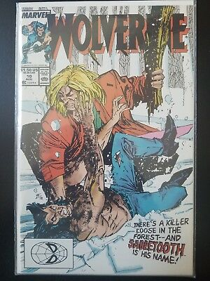 Wolverine #10 (Aug 1989, Marvel) Sabertooth vs Wolverine - VF+ See Pics