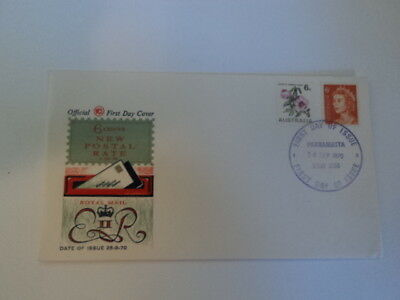 Australia first day cover fdc 1970 New Postal Rate 6 cents WCS