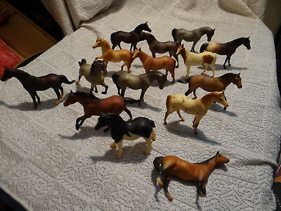"1975 Lot 15 Breyer Molding Co. Miniature Mini Horses 3"" (E3)"