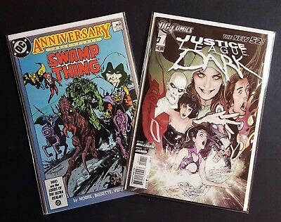Swamp Thing #50 1986 NM 1st Justice League Dark Lot + #1 New 52 2011 NM/NM+