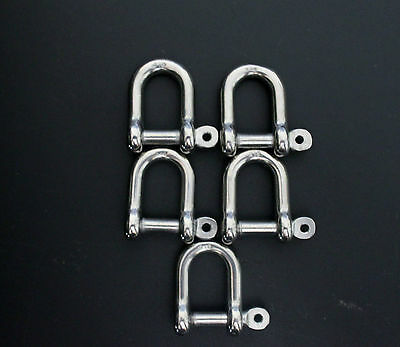 Stainless  Steel Marine D Shackles 5Mm