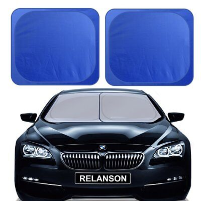 Relanson 2 PIECE SunShade for Car windshield Keeps Vehicle Cool-UV Ray ...
