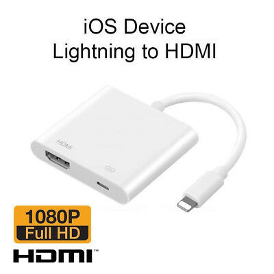 Fasting to Digital AV TV HDMI Cable Adapter For iPad Air iPhone 6 7 8 Plus X Max