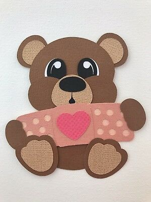 Boo Boo Bandaid bear - fully assembled die cut / paper piecing