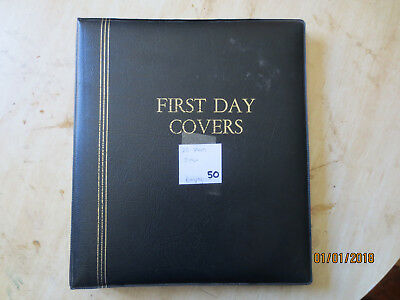 No-50 - FDC  ALBUM  HUGE  26  PAGES  DOUBLE  SIDED -3  RING  BINDER--GOOD ORDER