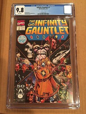 Infinity Gauntlet 1, 2, 3 4, 5, 6-ALL CGC 9.8 WHITE PAGES, Sequential Numbering
