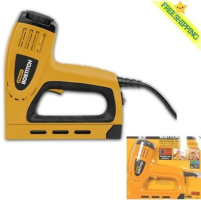 New Bostitch 5/8-in Electric Staple Gun Heavy Duty Contoured Grip Work Hand Tool
