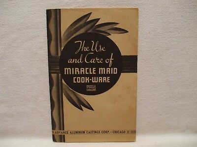 Vintage 1950s MIRACLE MAID Use & Care Recipe Cookbook Booklet Manual