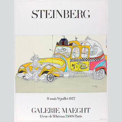 Saul Steinberg - Galerie Maeght 1977, Taxiposter