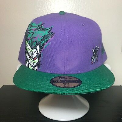 "New Era 5950 Splatter Face Joker Fitted Hat ""nwt"" Batman The Joker"