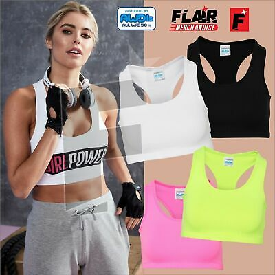 AWDis Ladies Cool Girlie Sports Crop Top JC017 Fitness Gym Wear Style