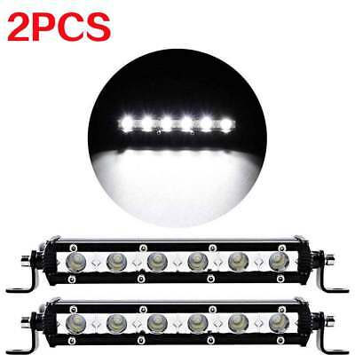 Pair 7inch 18W Led Work Light Bar Spot Suv Boat Driving Fog Lamp Offroad 4WD UTE
