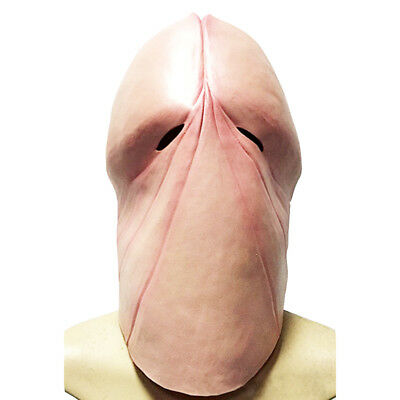 a7be128a1d4 Funny Latex Penis Dick Head Full Face Cosplay Prop Halloween Mask Helmet US