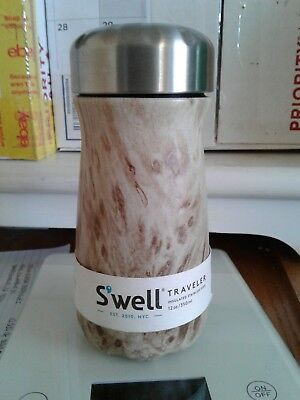 NEW Starbucks Swell Travel Blonde Wood Stainless Steel Thermos 12 oz.  NO BOX