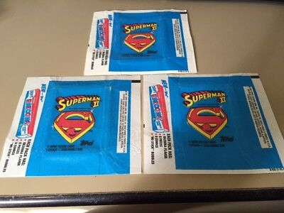 Superman II - 10x Wax Pack Card Wrappers - 1980 TOPPS - No Tears !!!