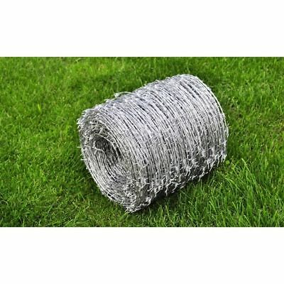 Barbed Wire Roll 500m High Tensile Heavy Duty Wire Width 1.6mm Garden Fence