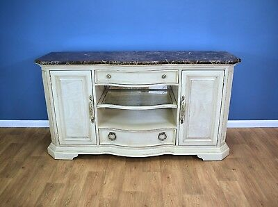 Antique French Style Painted Sideboard Credenza Marble Top Stanley Furniture