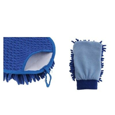 Microfibre Duster Cloth Handle Home Table Cloth and Gloves Waterproofs Blue