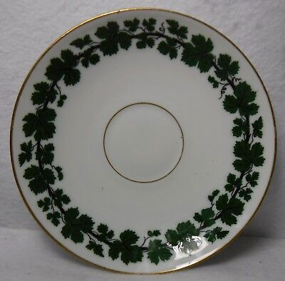 """MEISSEN Germany china FULL GREEN VINE smooth 1930's mark Saucer - 5-7/8"""""""