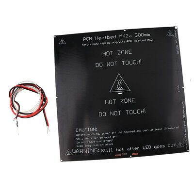 1Pack MK3 Aluminum Board PCB Heatbed Heat Bed for 3D Printer +Thermistor