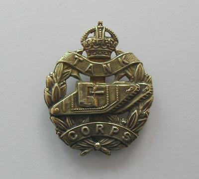 British Army Cap Badge. The Tank Corps.