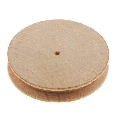 Natural Wood Circle Leathercraft Edge Slicker Burnisher for Leather Working