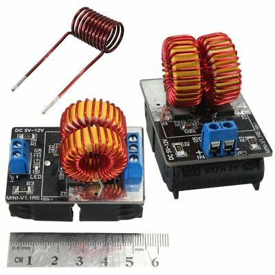 Pro 5V-12V Low Voltage ZVS Induction Heating Power Supply Module +Heater Coil UQ
