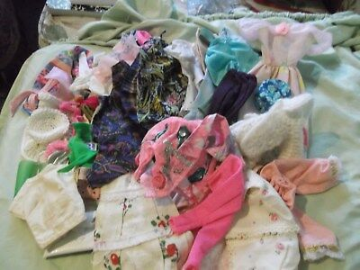 Lot 50 pc clothing shoes fit older Barbie dolls They mix & match All very good
