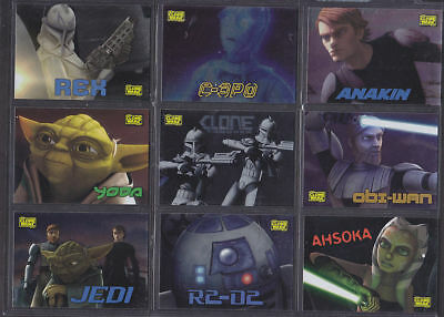 Star Wars - Clone Wars - Foil Chase Chase - Complete Card Set (10) - NM