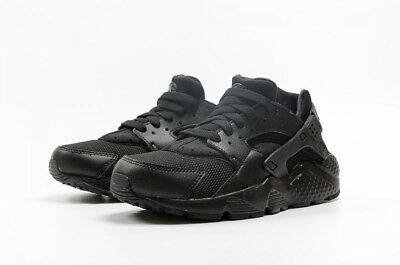 buy popular 1dcea 740c9 Nike Huarache Run Gs Triple Black 654275-016 Grade School Boys Girls Womens
