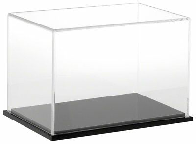 """Plymor Brand Clear Acrylic Display Case with Black Base, 9"""" W x 6"""" D x 6"""" H"""