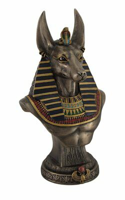 Resin Statues Ancient Egyptian Jackal God Anubis Bronze Finished Bust Statue 5 X