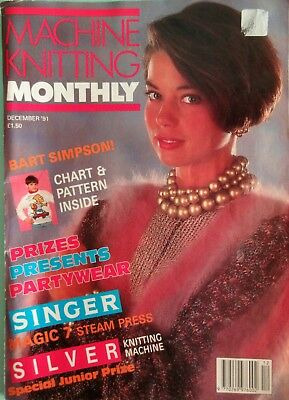 Machine Knitting Monthly 1991 Christmas Patterns Bart Simpson Gary Kennedy