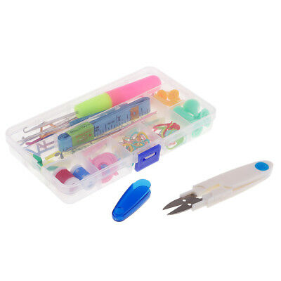 Baoblaze 80pcs Basic Knitting Tools Accessories Supplies With Case Knit Kit