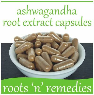 Ashwagandha Root Extract Capsules - 400mg x 60 - High Strength & Pure.