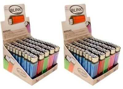 100 Classic Full Size Cigarette Lighter Disposable Wholesale Lot BLINK MK IGNITU