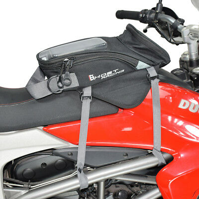 Magnetic Motorcycle Oil Fuel Tank Luggage Bag Black GPS Phone Holder