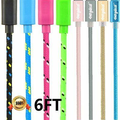6 FT Long BRAIDED USB Charger Cable Cord For iPhone 7 Plus iPhone 6 iPhone 5s SE