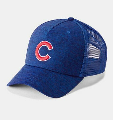 29ef3ba06a7 Chicago Cubs Under Armour MLB Twist Trucker Cap Adjustable Snapback Mesh Hat
