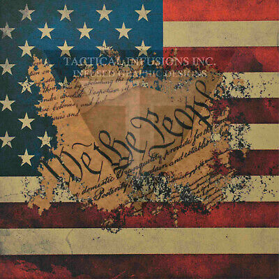 """Kydex Infused Pledge of Allegiance Full Star Subdued Flag11 7//8 X 7 7//8/"""" 1 Sheet"""