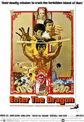 "Enter the Dragon ( 11"" x 17"" ) Movie Collector's Poster Print ( T2) - B2G1F"