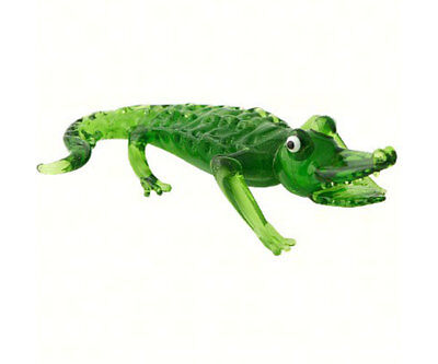 Collectible Blown Glass Creatures And Animals - Alligator - Ma-052