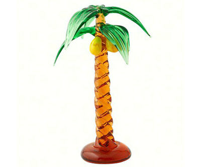 Collectible Blown Glass Creatures And Animals - Palm Tree - Ma-072
