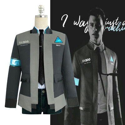 Detroit: Become Human RK800 Connor Costume Cosplay Complete Outfit Jacket Coat