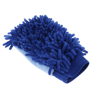 Microfibre Duster Cloth Handle Home Table Cloth and Gloves Single Side Blue
