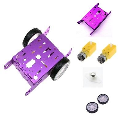 2WD Smart Car Chassis Kit Assembled Model Wheels Speed Encoder For Arduino