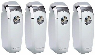 4 x P+L Automatic Mirror Chrome Air Freshener Fragrance Dispenser LCD for Cans